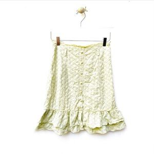 odille / ruffle button down skirt anthropologie